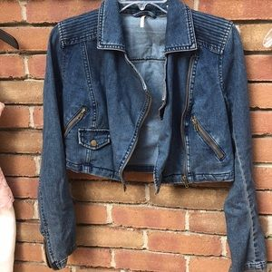 Super Cute And Unique Free People Jean Jacket